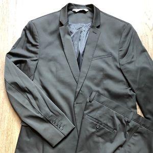 Zara Black Suit Jacket & Pants